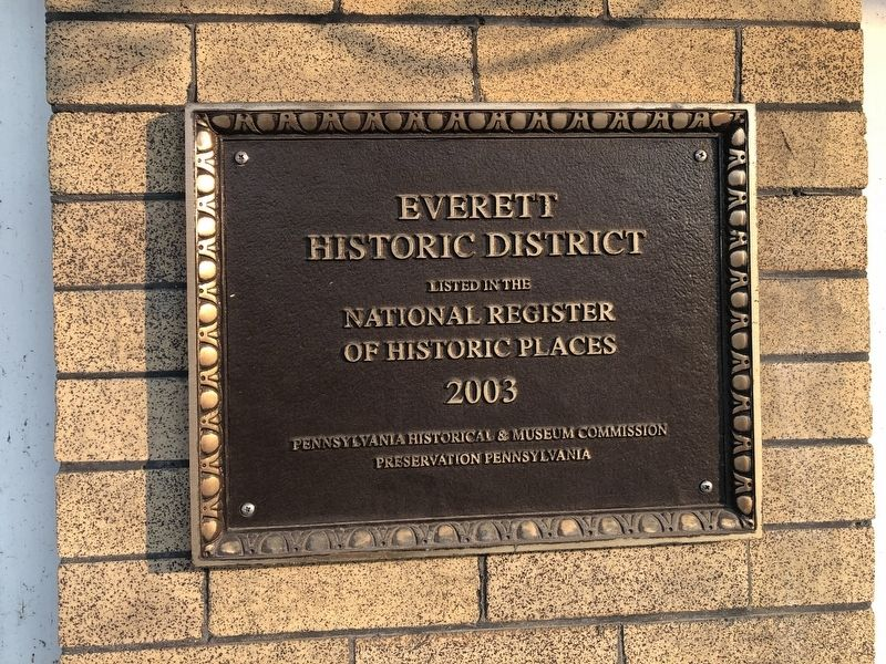 National Register of Historic Places plaque on the building for the Everett Historic District image. Click for full size.
