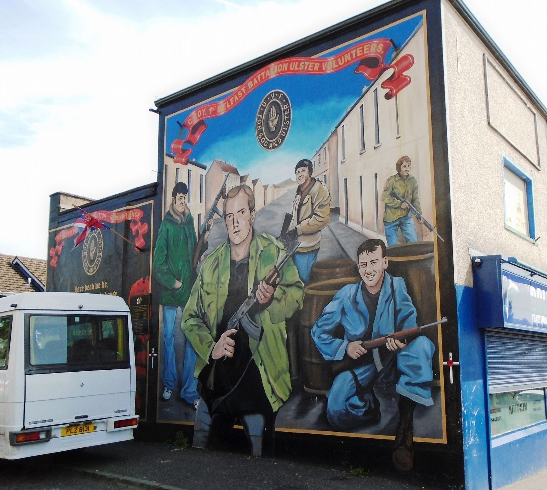 C Coy. First Battalion Ulster Volunteers Mural image. Click for full size.