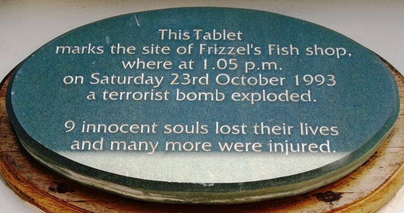Frizzell's Fish Shop Bombing Victims Marker image. Click for full size.