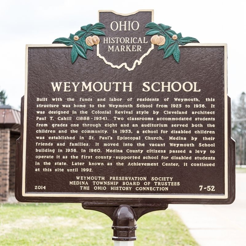 Weymouth School Marker image. Click for full size.