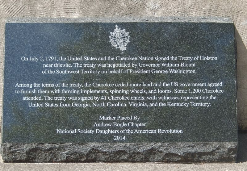 Signing of the Treaty of Holston Marker image. Click for full size.
