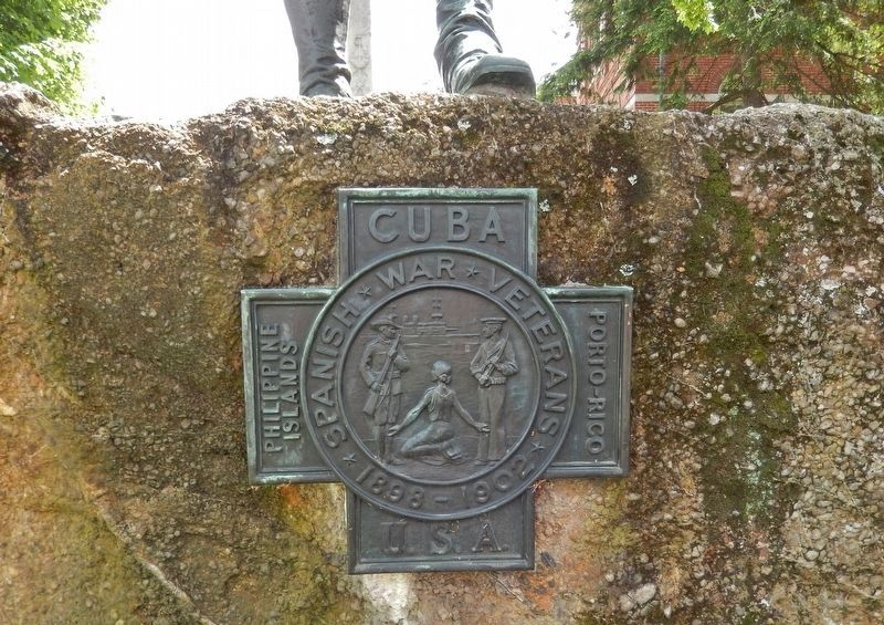 Knox County Spanish American War Monument<br>(<i>bronze medallion</i>) image. Click for full size.