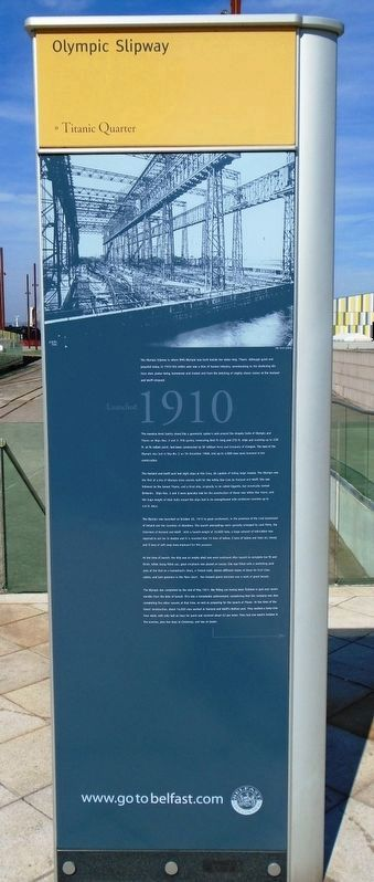 Olympic Slipway Marker (front) image. Click for full size.
