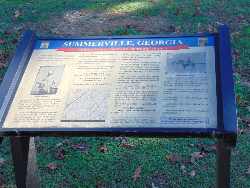 Summerville, Georgia Marker image. Click for full size.