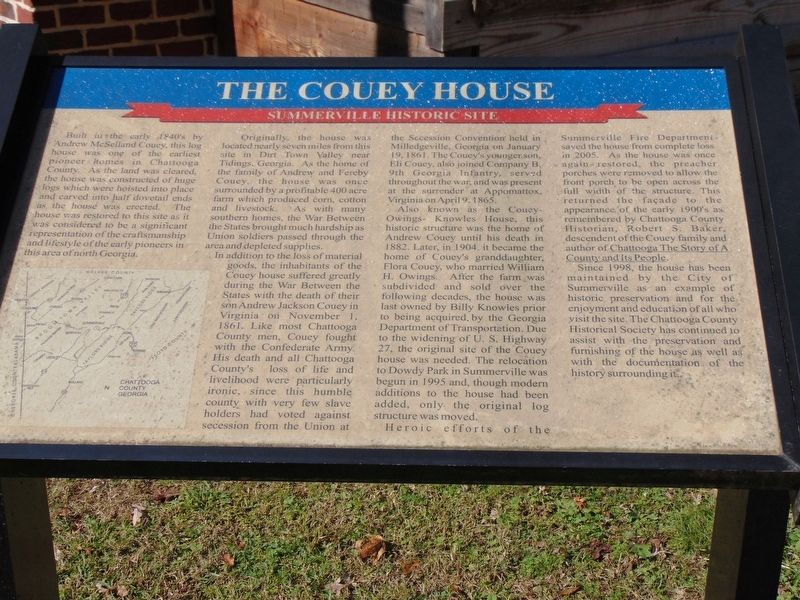 The Couey House Marker image. Click for full size.