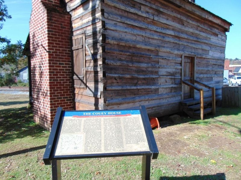 The Couey House and Marker image. Click for full size.