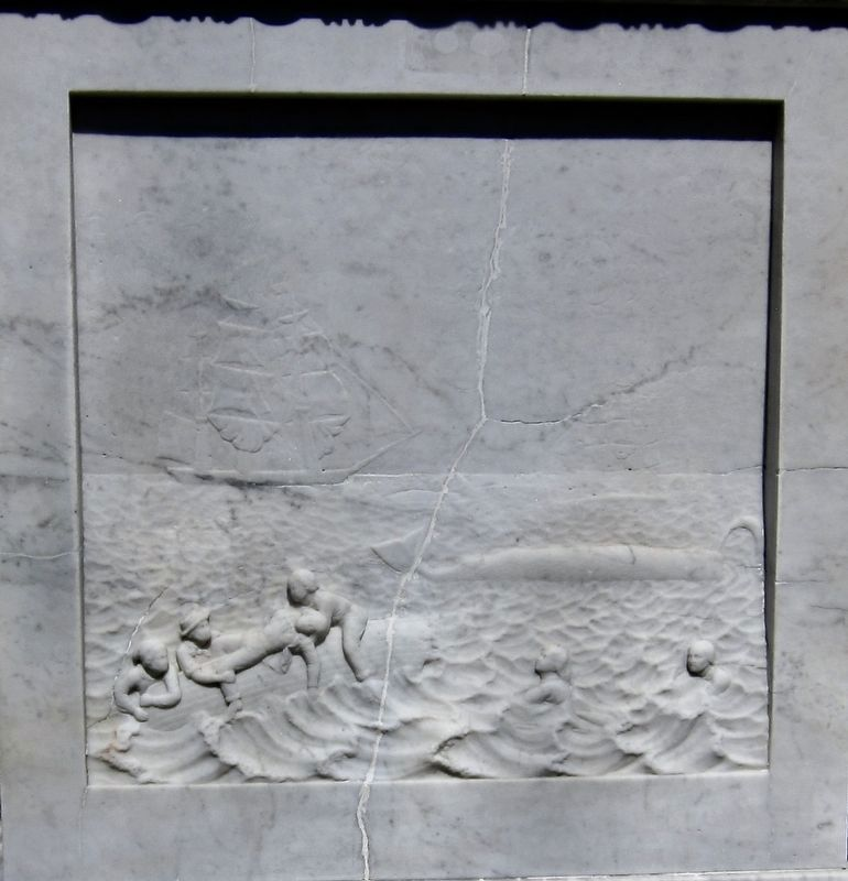 Sag Harbor Whalers Memorial - fourth panel image. Click for full size.