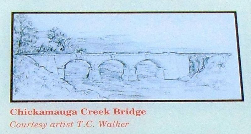 Chickamauga Creek Bridge image. Click for full size.