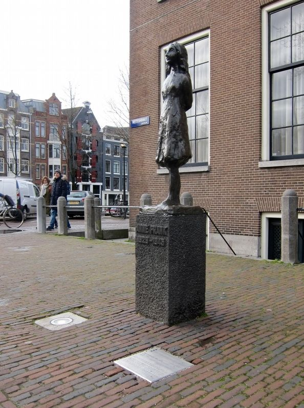 Anne Frank Memorial - wide view image. Click for full size.