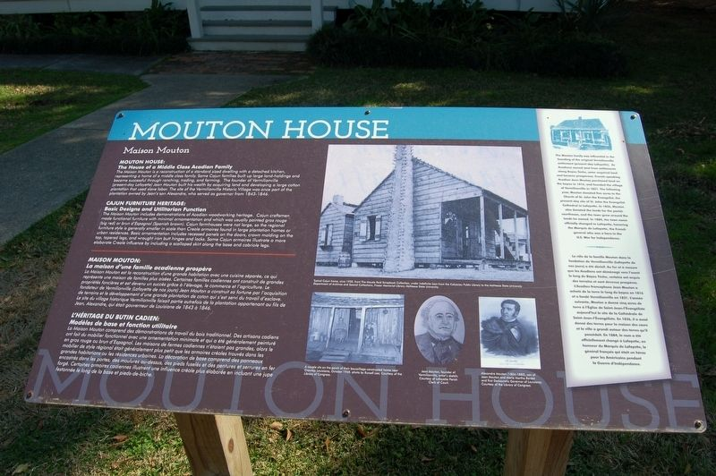 Mouton House Marker image. Click for full size.