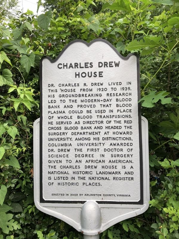 Charles Drew House Marker image. Click for full size.