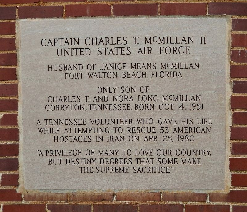 Captain Charles McMillan II Marker image. Click for full size.