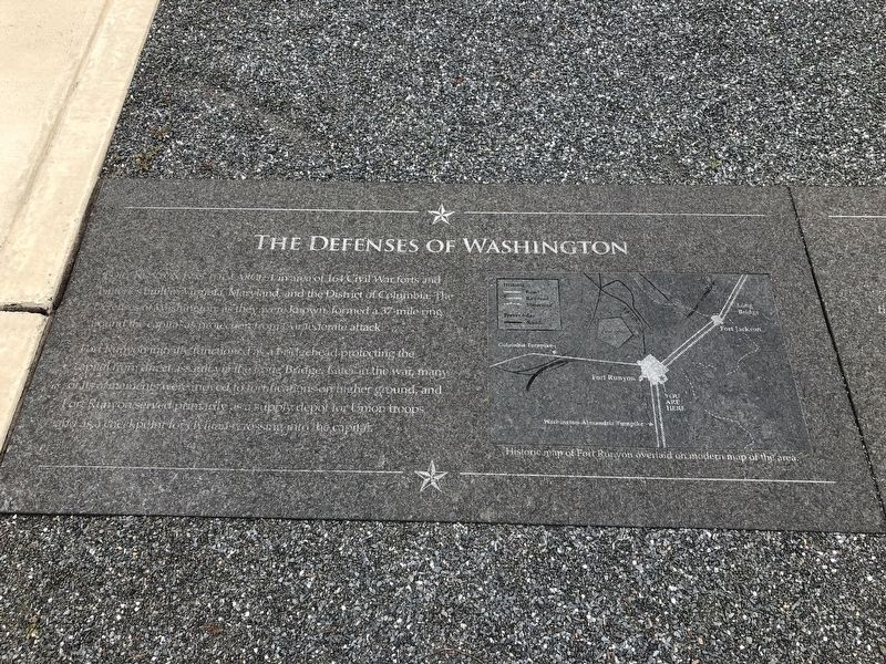 The Defenses of Washington Marker image. Click for full size.