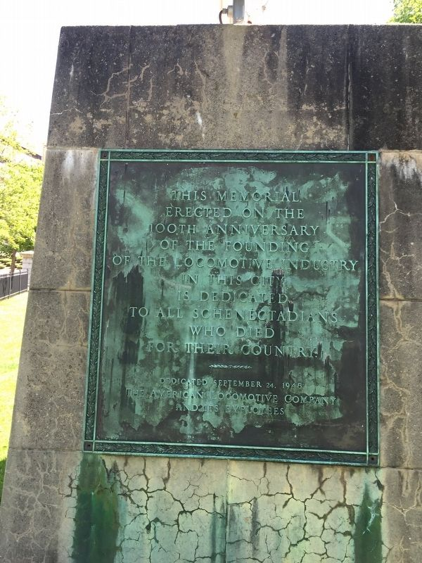 Schenectady ALCO War Memorial image. Click for full size.