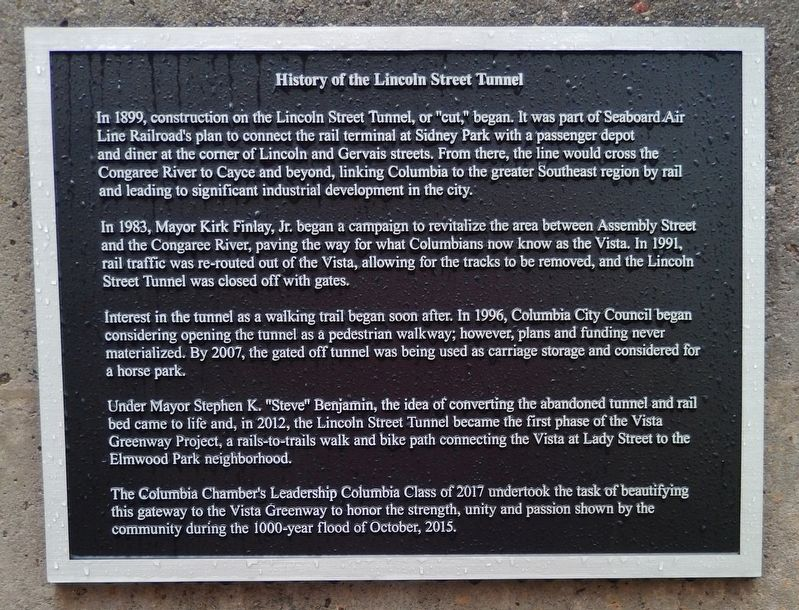 History of the Lincoln Street Tunnel Marker image. Click for full size.