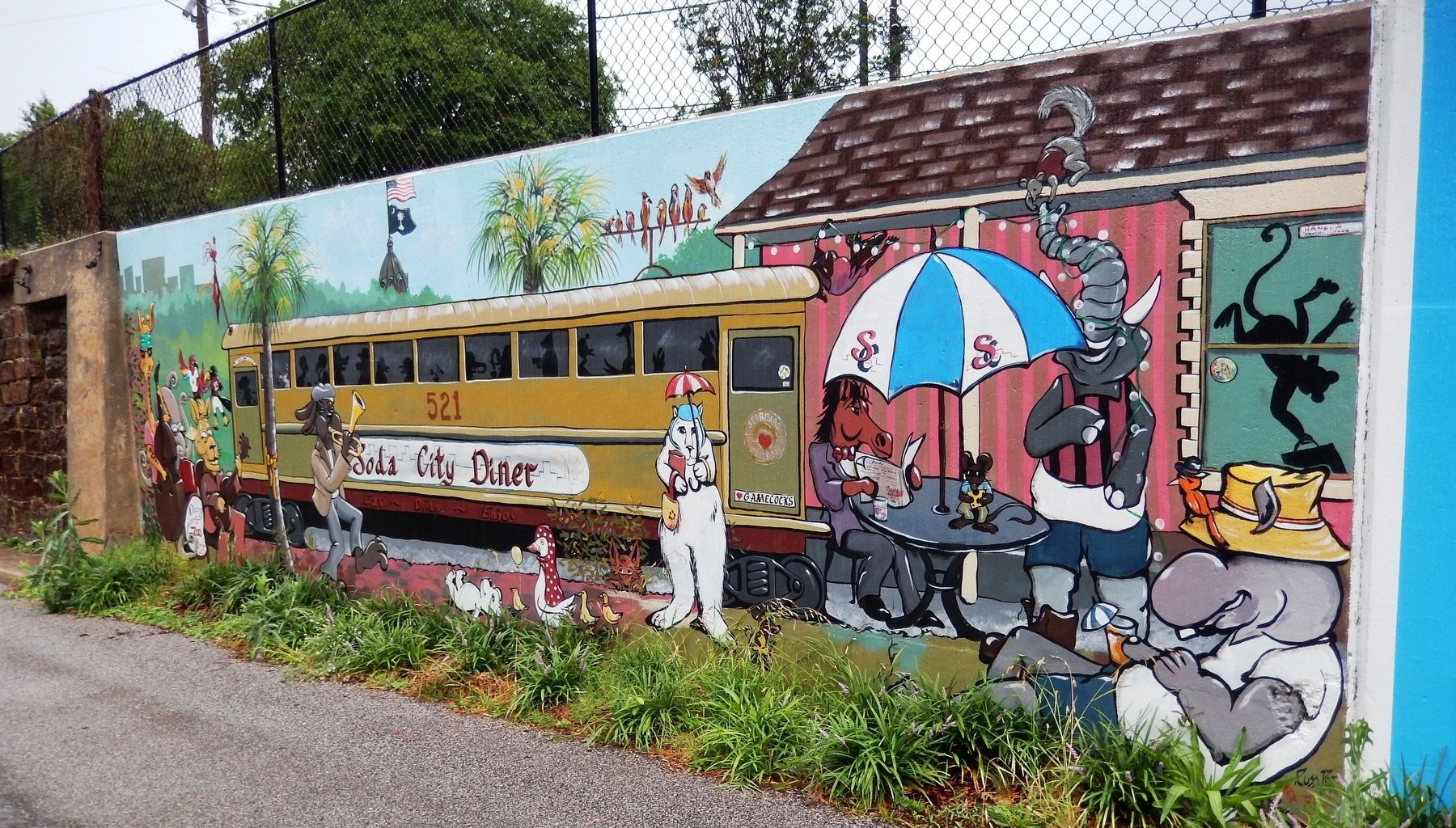 Our Community, Soda City Diner Mural • Keith Tolen • 2017<br>(<i>located near marker</i>) image. Click for full size.