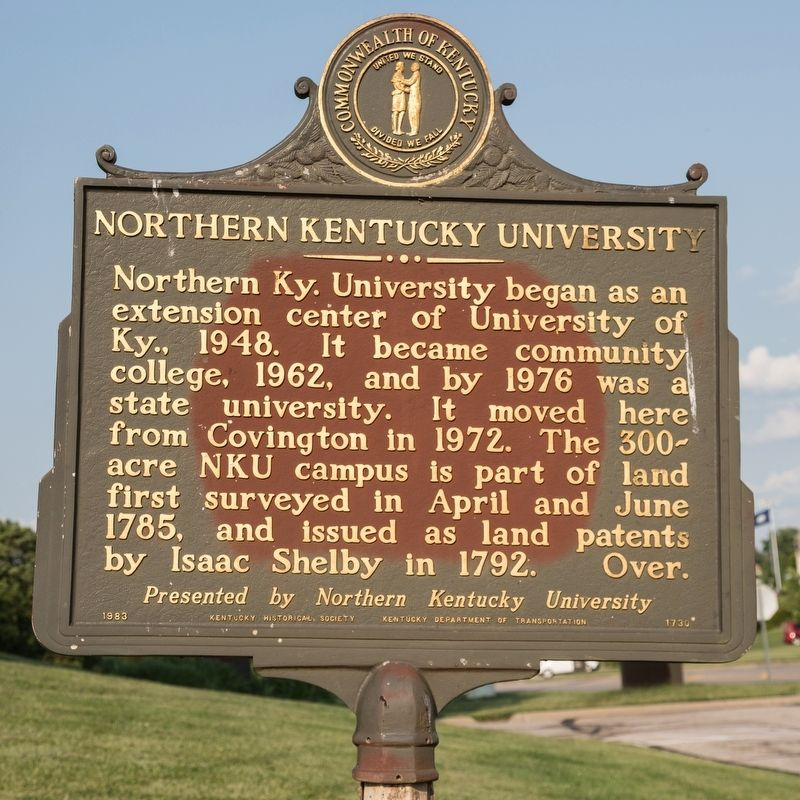 Northern Kentucky University side of marker image. Click for full size.