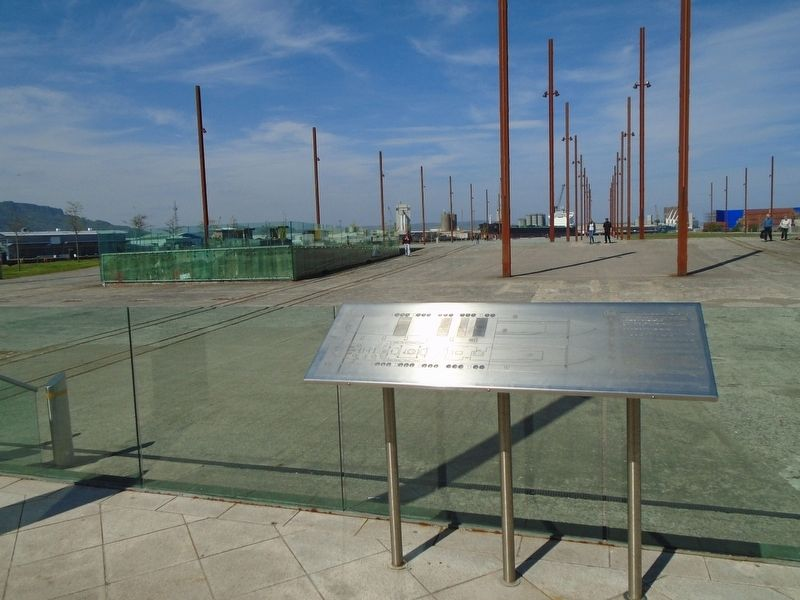 Titanic and Olympic Slipways and Marker image. Click for full size.