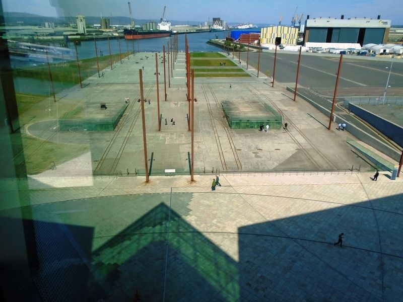Titanic and Olympic Slipways image. Click for full size.