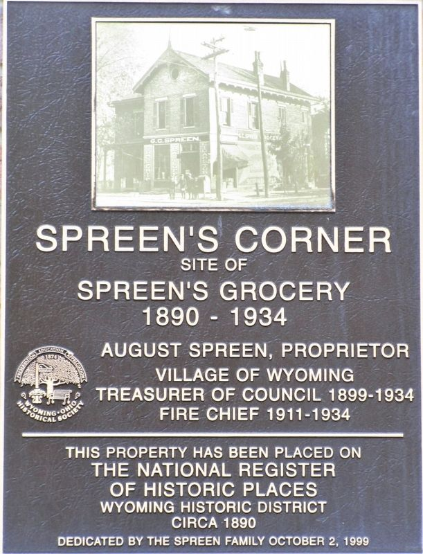 Spreen's Corner Marker image. Click for full size.