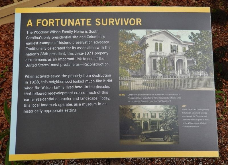 A Fortunate Survivor Marker image. Click for full size.