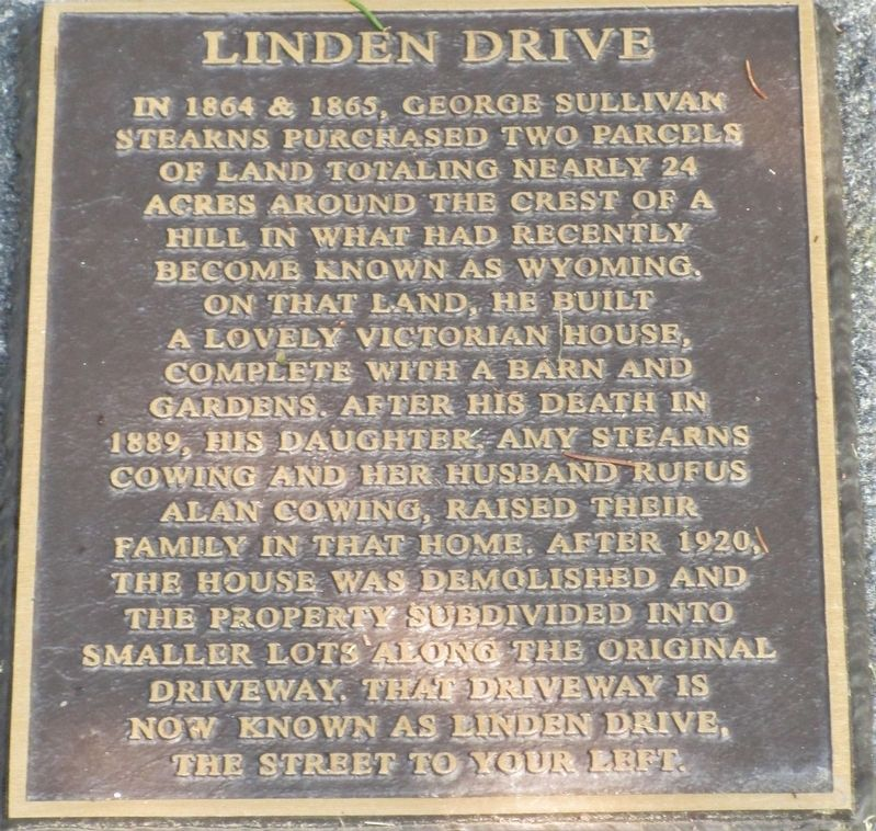 Linden Drive Marker image. Click for full size.