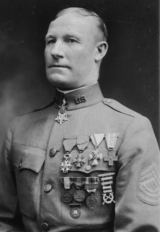 Master Sergeant Samuel Woodfill - WWI Medal of Honor recipient image. Click for full size.