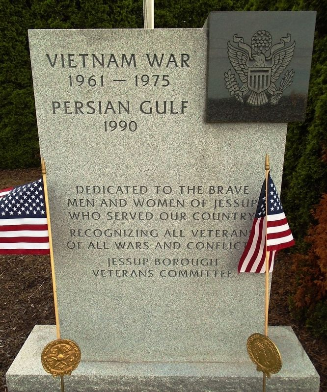 Veterans Memorial Vietnam and Persian Gulf Marker image. Click for full size.
