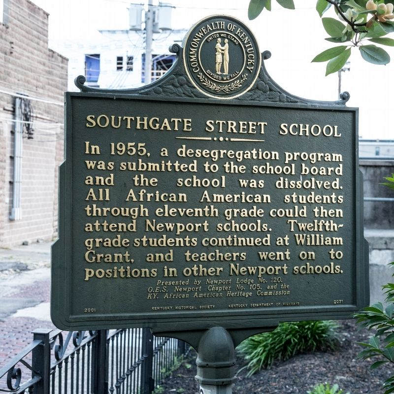Southgate Street School Marker, side two image. Click for full size.