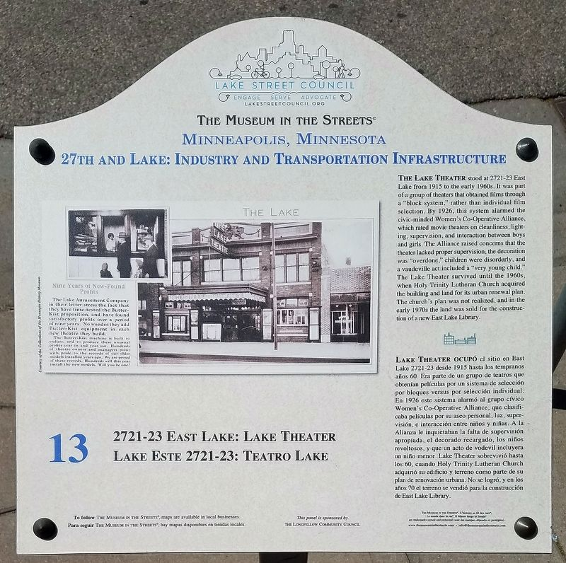 Lake Theater marker image. Click for full size.