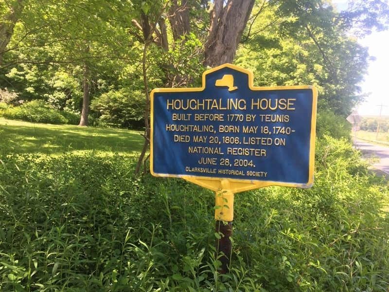 Houghtaling House Marker image. Click for full size.