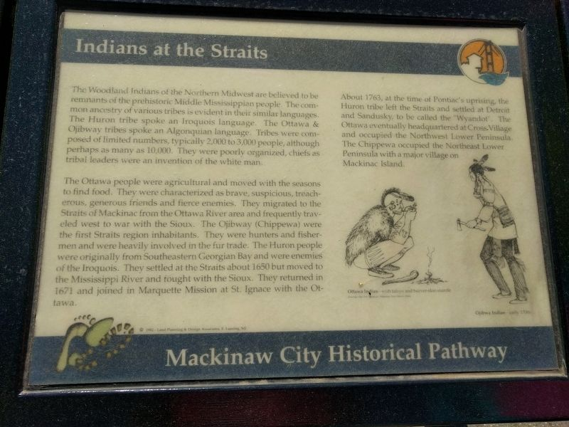 Indians at the Straits Marker image. Click for full size.