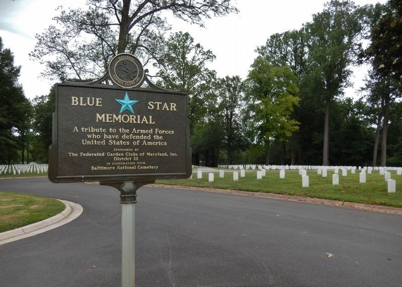 Baltimore National Cemetery • Blue Star Memorial Marker image. Click for full size.