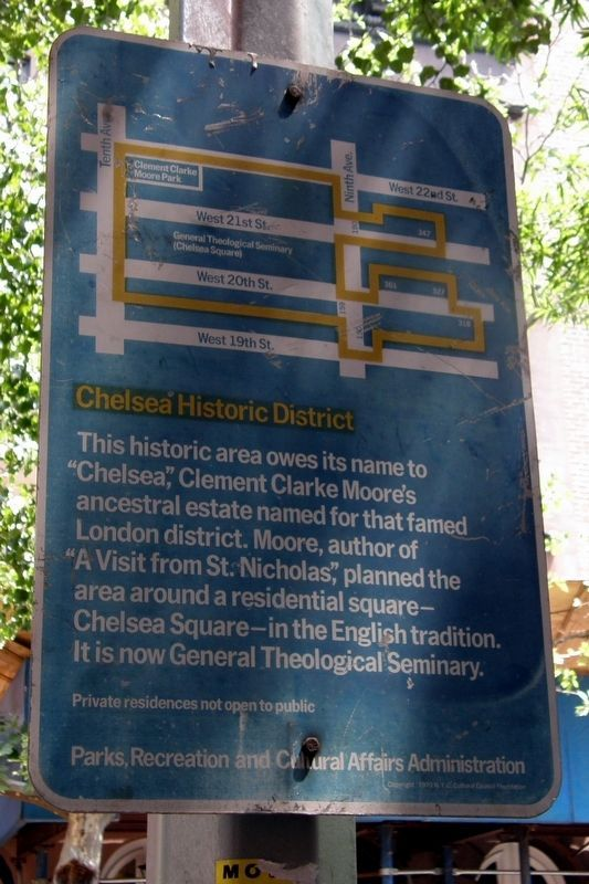 Chelsea Historic District marker image. Click for full size.