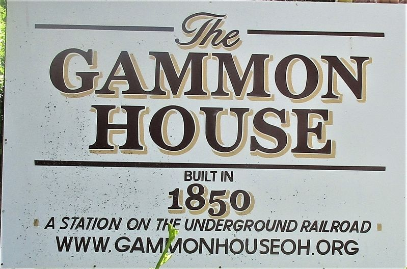 Gammon House Marker image. Click for full size.