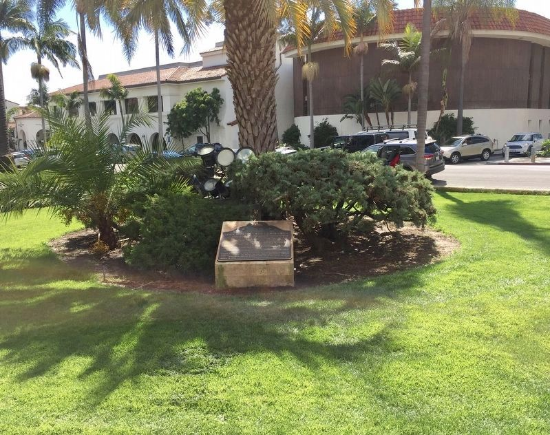 Santa Barbara County Courthouse Marker - wide view image. Click for full size.