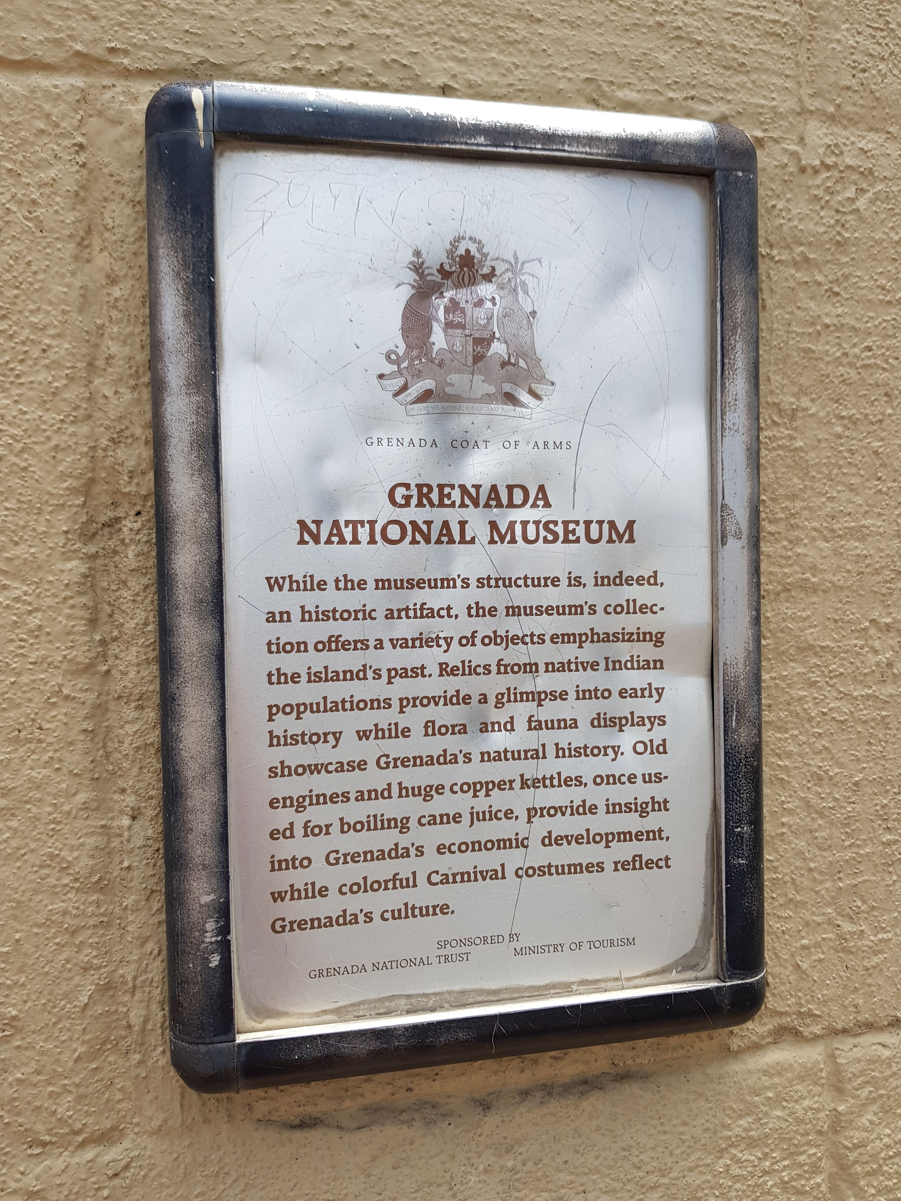 Grenada National Museum Marker