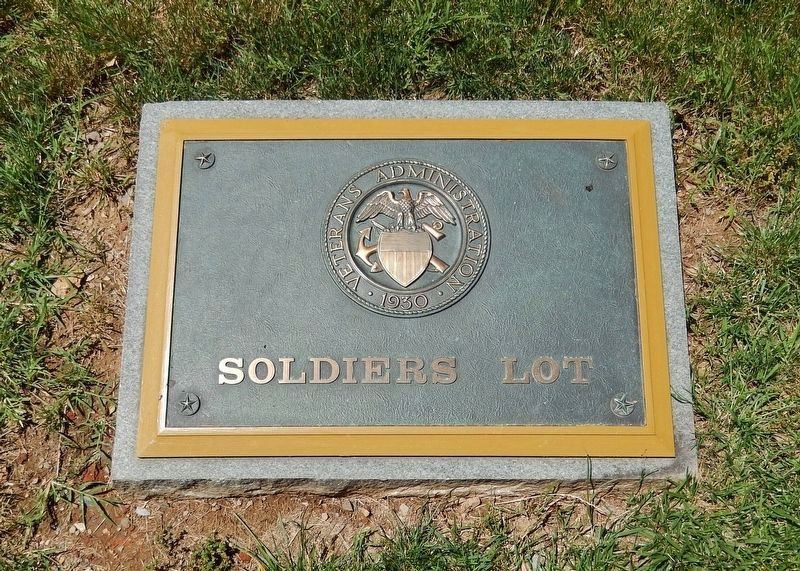 Prospect Hill Soldiers' Lot Plaque<br>(<i>located near marker</i>) image. Click for full size.