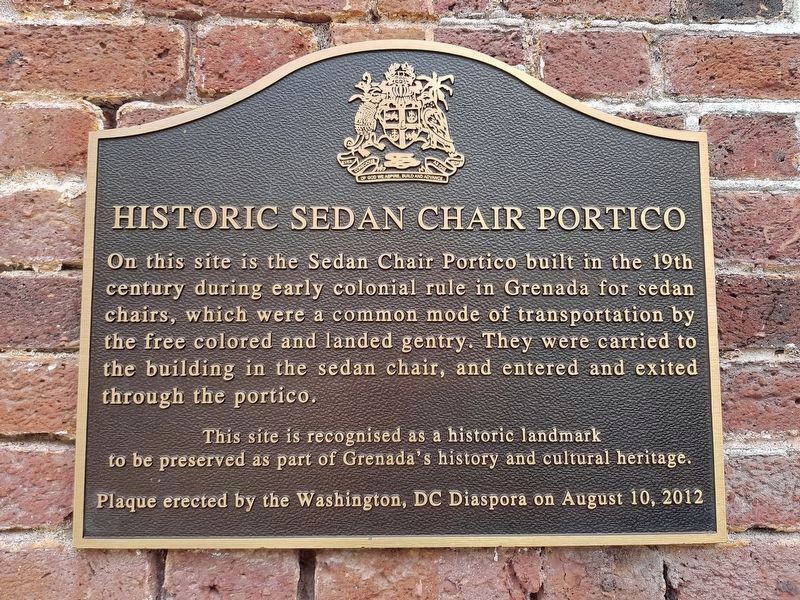 An additional nearby Historic Sedan Chair Portico Marker image. Click for full size.