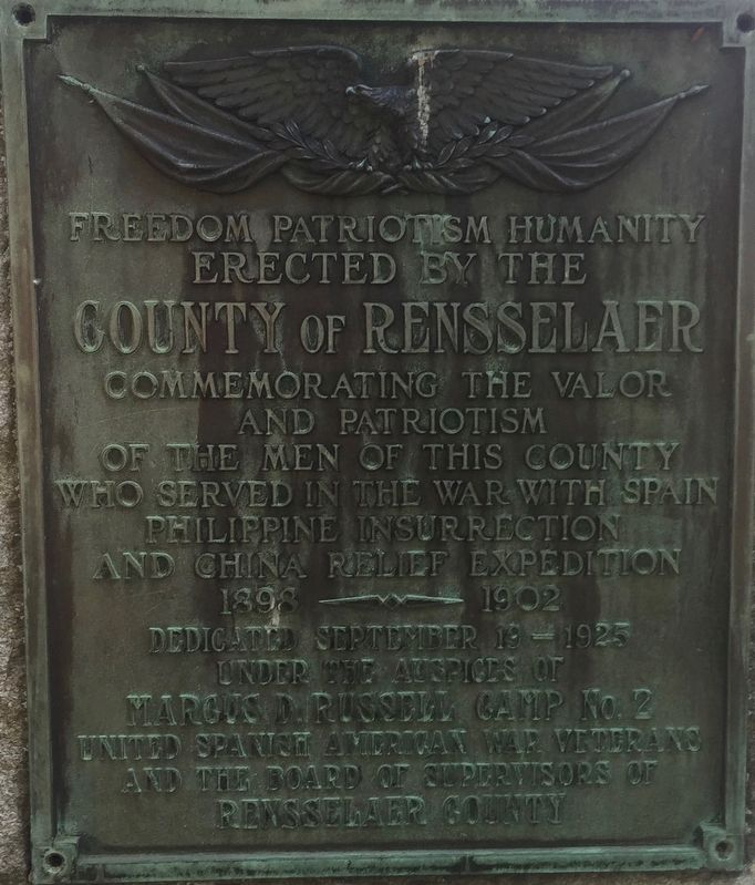 Rensselaer County Spanish-American War Memorial image. Click for full size.