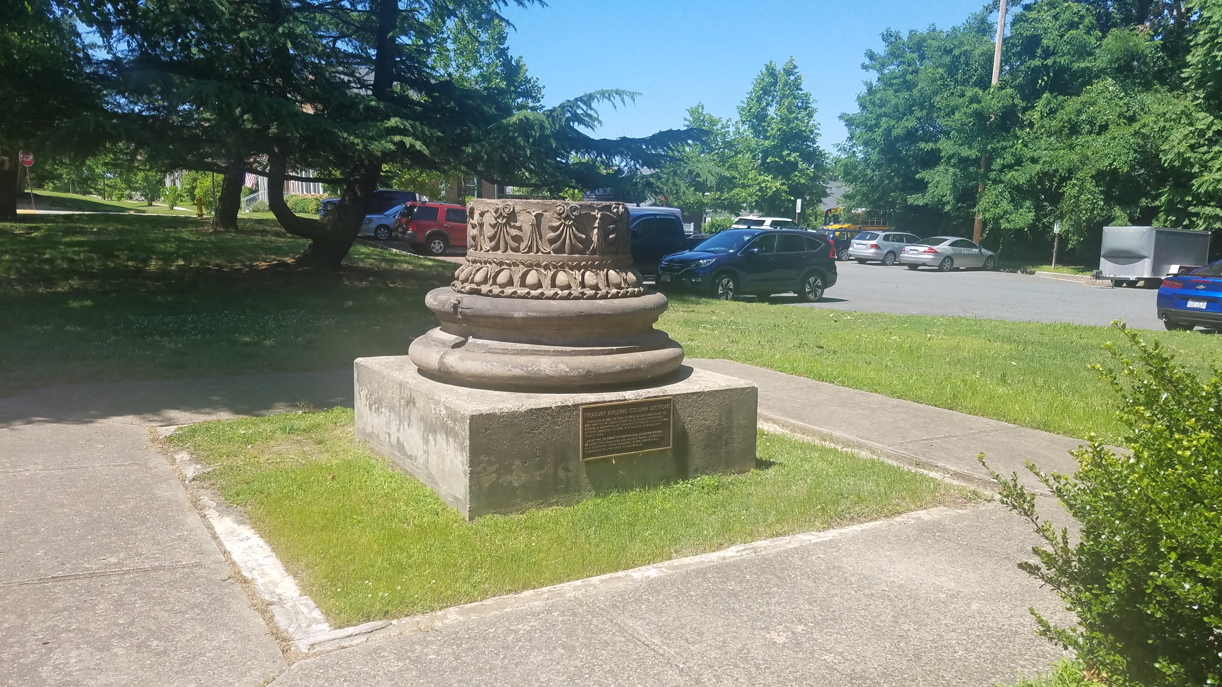 Treasury Building Column Section and Marker