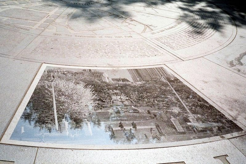 Segment 9 - 1999: Restoration of City Hall Park image. Click for full size.