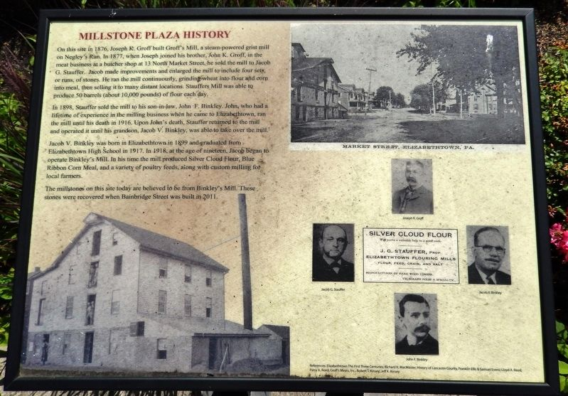 Millstone Plaza History Marker image. Click for full size.