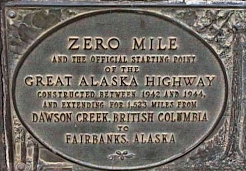 Alaska Highway - additional plaque image. Click for full size.