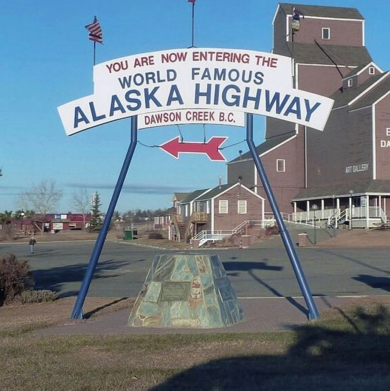 Alaska Highway - additional plaque - full view image. Click for full size.