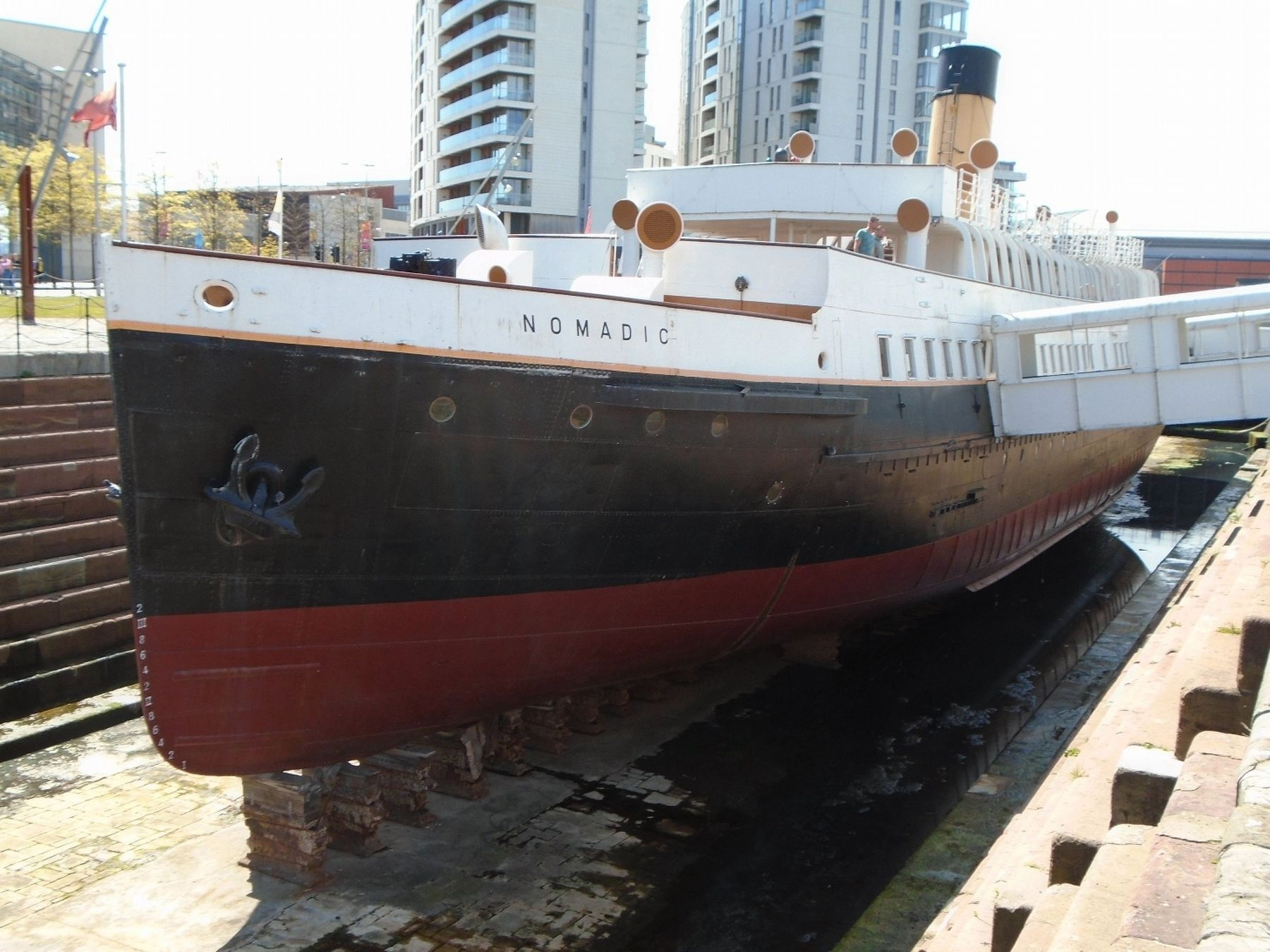 SS <i>Nomadic</i> in the Hamilton Graving Dock image. Click for full size.