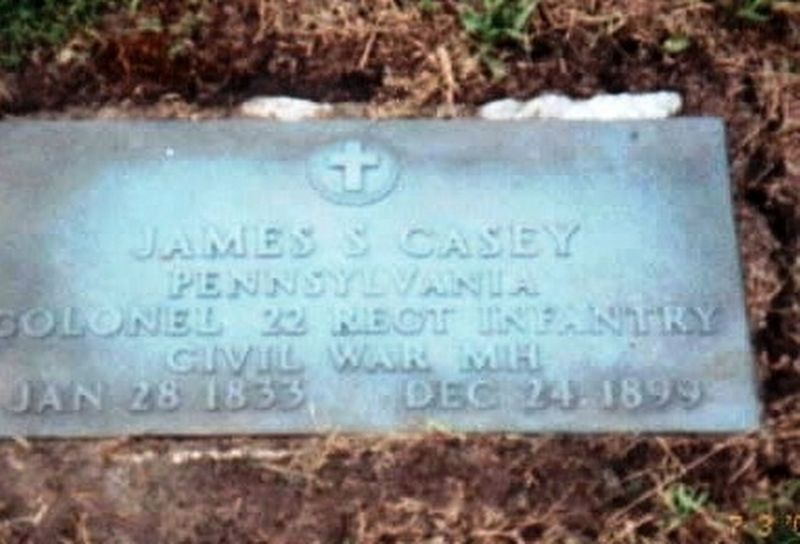 James S. Casey-Medal of Honor Recipient is buried in Vale Cemetery image. Click for full size.