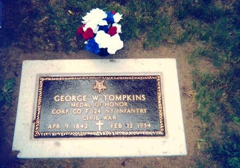 George W. Thompkins AKA George W.Tompkins is buried in Vale Cemetery image. Click for full size.