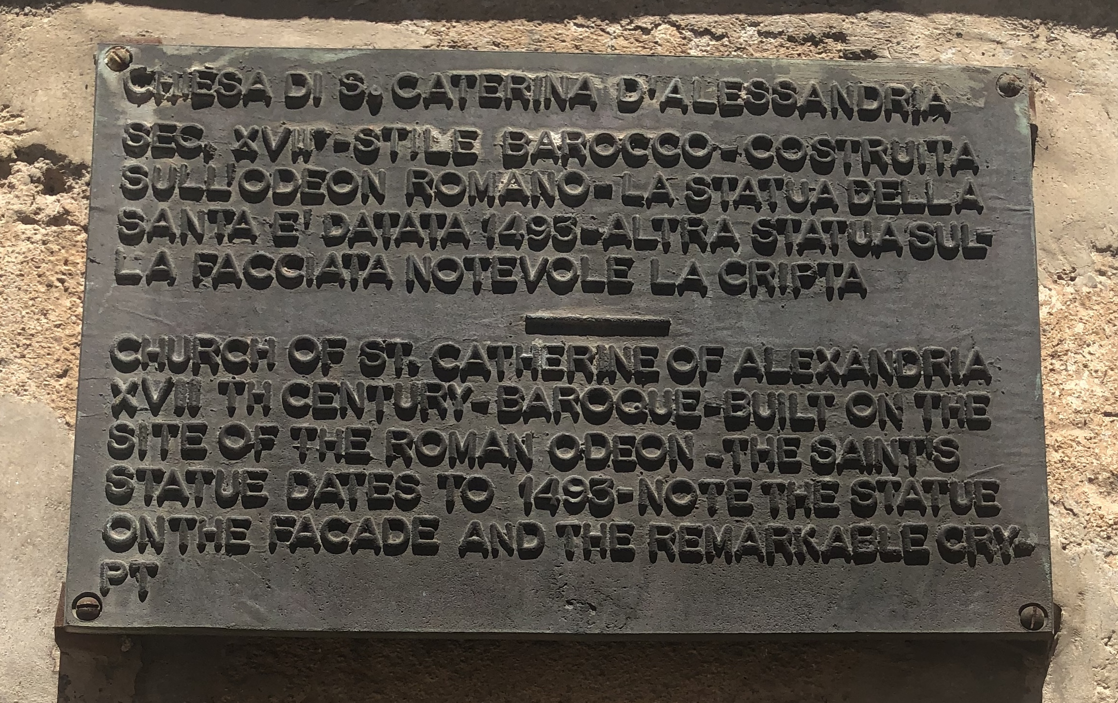 Church of Saint Catherine of Alexandria Marker