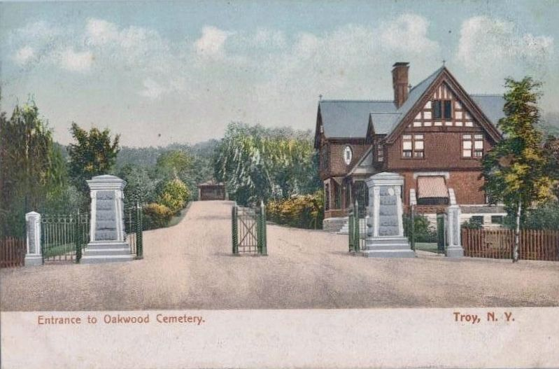 <i>Entrance to Oakwood Cemetery - Troy, N.Y.</i> image. Click for full size.